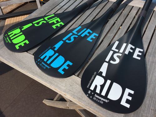 LIFE IS A RIDE SUP Paddel 3-teilig